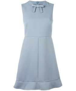 Red Valentino | Bow Detail Flared Dress 40 Cotton/Viscose/Acetate/Polyester