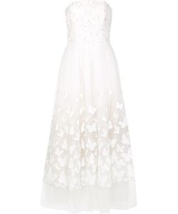 Marchesa Notte | Butterfly Flared Dress 10 Nylon