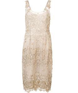 Marchesa Notte | Applique Midi Dress 4 Nylon