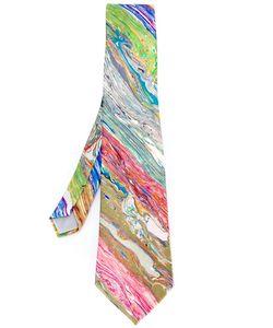 YOHJI YAMAMOTO VINTAGE | Printed Silk Tie
