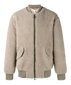 Helmut Lang | Shearling Jacket Medium Polyester/Cotton/Viscose/Lamb Skin