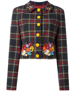 MOSCHINO VINTAGE   Cropped Tartan Jacket 46