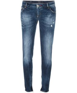Philipp Plein | Distressed Skinny Jeans 28 Cotton/Spandex/Elastane/Polyester