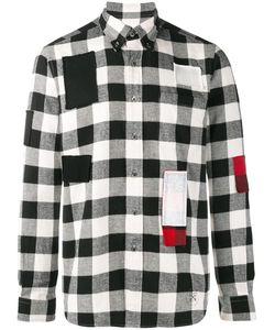UNIFORM EXPERIMENT | Logo Print Checked Shirt 3 Cotton