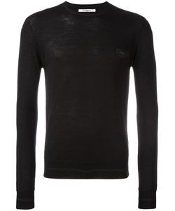 Givenchy | Logo Plaque Knitted Jumper Small Wool/Calf Leather