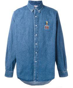 Joyrich | Bart Patch Denim Shirt Large Cotton