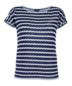 Giorgio Armani | Striped Knit Top 40 Viscose