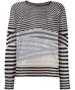 Giorgio Armani | Striped Knit Jumper 40 Cashmere/Viscose/Silk/Polyamide