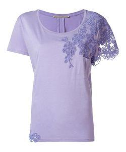 Ermanno Scervino | Embroidered T-Shirt 48 Cotton