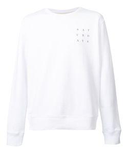 Saturdays Surf Nyc   Logo Print Sweatshirt Xl Cotton