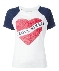Zoe Karssen   Love Bikers T-Shirt Small Cotton/Linen/Flax