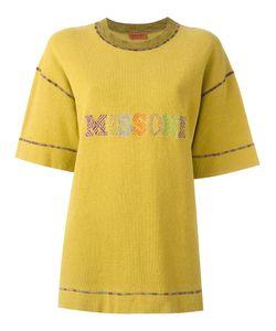 MISSONI VINTAGE | Embroidered Logo T-Shirt Large