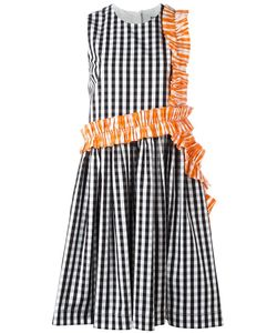 MSGM | Checked Ruffle Detail Dress 44 Cotton