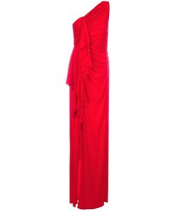Givenchy | Gathe One Shoulder Gown 38 Viscose/Spandex/Elastane/Polyamide/Silk