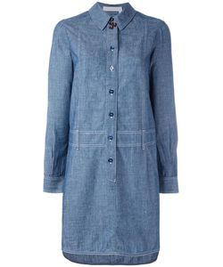 See By Chloe | See By Chloé Chambray Shirt Dress 40 Cotton/Linen/Flax/Tencel
