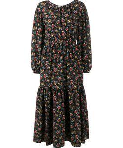 Saint Laurent | Print Peasant Dress 34 Silk