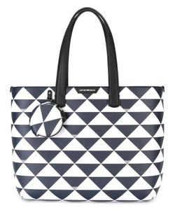 Emporio Armani | Triangles Tote Bag Polyester/Leather