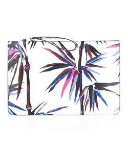 Emilio Pucci | Palm Tree Print Clutch Calf Leather/Polyester/Polyurethane