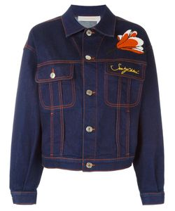 See By Chloe | See By Chloé Flower Applique Denim Jacket 42