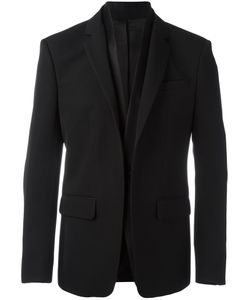 Givenchy | Layered Lapel Blazer 54 Wool/Silk/Polyester/Cotton
