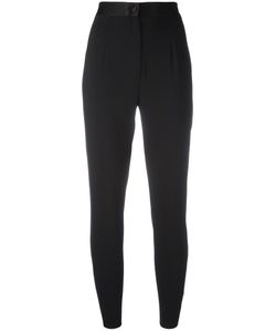 Dolce & Gabbana | High-Waisted Trousers 42 Virgin Wool/Silk/Spandex/Elastane