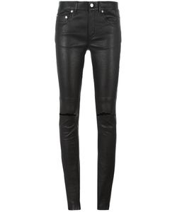 Saint Laurent | Busted Knee Leather Trousers 38 Lamb