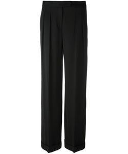 Donna Karan | Wide Leg Trousers 6 Spandex/Elastane/Viscose/Wool