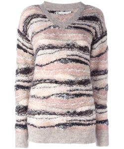 See By Chloe | See By Chloé Knitted V-Neck Jumper Small Alpaca/Mohair/Wool/Viscose