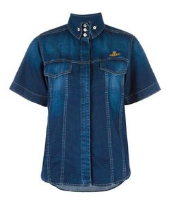Vivienne Westwood Anglomania | Shortsleeved Denim Shirt Large Cotton