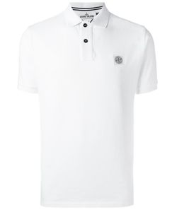Stone Island | Logo Detail Polo Shirt Medium Cotton