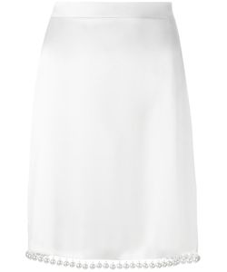Givenchy | Pearl Hem Skirt 38 Silk/Acetate/Cotton