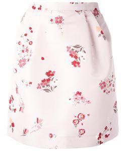 Red Valentino | Print Pegged Skirt 40 Polyester