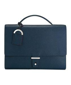 Bulgari | Flap Closure Briefcase Leather