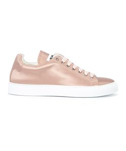 Jil Sander | Lace-Up Sneakers 41 Silk Satin/Leather/Rubber