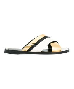 Lanvin | Criss Cross Strap Sandals 38 Calf Leather/Goat