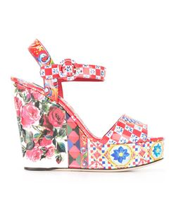 Dolce & Gabbana | Bianca Wedge Sandals 35.5 Leather/Patent