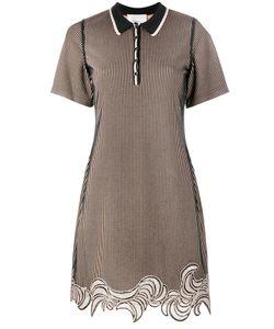3.1 Phillip Lim | Embroidered Hem Polo Dress Large