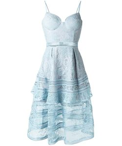 SELF-PORTRAIT | Lace Sheer Detailing Dress 12 Polyester/Polyamide