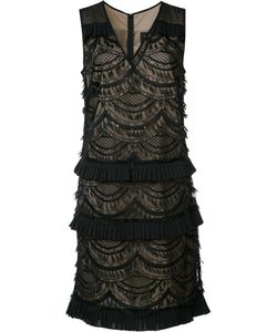Nicole Miller | Layered Lace Dress 4 Polyester