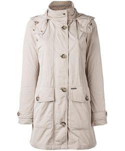 Woolrich | Buttoned Midi Raincoat Medium Polyester/Polyamide/Cotton