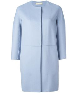 'S Max Mara | Collarless Coat 36 Angora/Virgin Wool