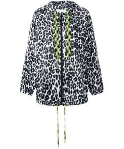Marc Jacobs | Leopard Print Hooded Jacket Large Polyester
