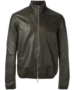 Emporio Armani | Zip Up Jacket Medium Lamb Skin/Polyester