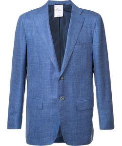 Kiton | Flap Pocket Blazer 54 Silk/Linen/Flax/Cashmere