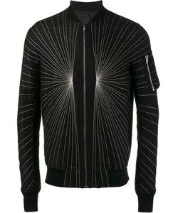 Rick Owens | Embroidered Flight Bomber Jacket 46 Cotton/Viscose/Linen/Flax/Cotton