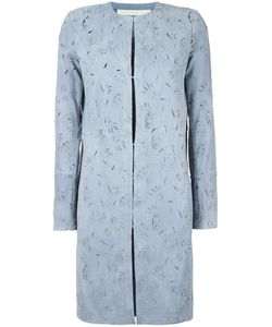 Drome | Cut-Off Pattern Collarless Coat Xs Goat Skin