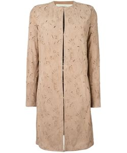 Drome | Cut-Off Pattern Collarless Coat Xl Goat Skin