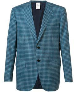 Kiton | Plaid Blazer 52 Silk/Linen/Flax/Cashmere