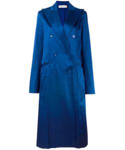 Nina Ricci | Long Double Breasted Coat 36 Silk