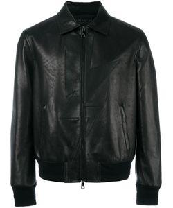 Neil Barrett | Lightning Bolt Leather Jacket Medium Leather/Viscose/Polyester/Spandex/Elastane